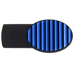 Blue Lines Background Usb Flash Drive Oval (2 Gb)