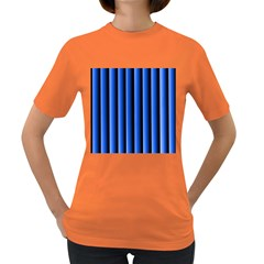 Blue Lines Background Women s Dark T-Shirt