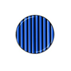 Blue Lines Background Hat Clip Ball Marker
