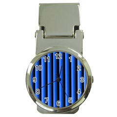 Blue Lines Background Money Clip Watches