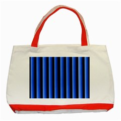 Blue Lines Background Classic Tote Bag (red)