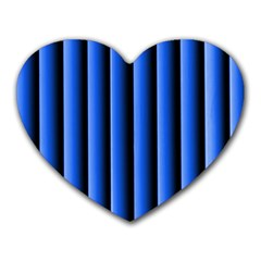 Blue Lines Background Heart Mousepads
