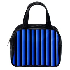 Blue Lines Background Classic Handbags (one Side)