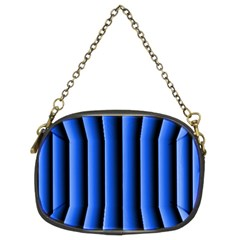 Blue Lines Background Chain Purses (two Sides)