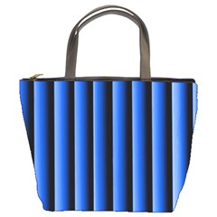 Blue Lines Background Bucket Bags