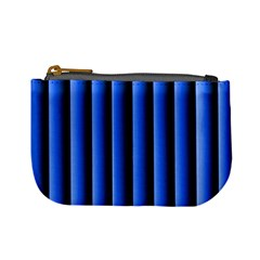 Blue Lines Background Mini Coin Purses