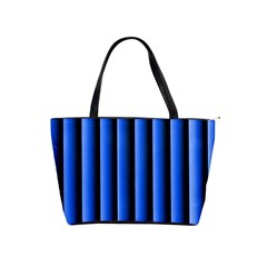 Blue Lines Background Shoulder Handbags