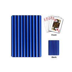 Blue Lines Background Playing Cards (mini)