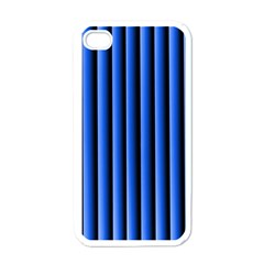 Blue Lines Background Apple Iphone 4 Case (white)
