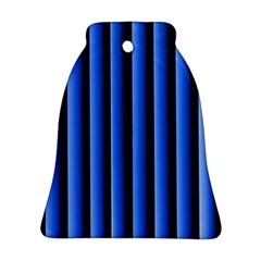 Blue Lines Background Bell Ornament (two Sides)
