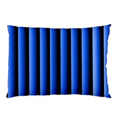 Blue Lines Background Pillow Case (two Sides)