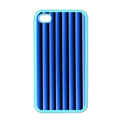 Blue Lines Background Apple Iphone 4 Case (color)