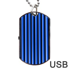 Blue Lines Background Dog Tag Usb Flash (two Sides)