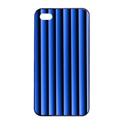 Blue Lines Background Apple Iphone 4/4s Seamless Case (black)