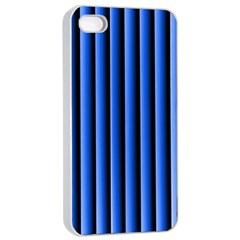 Blue Lines Background Apple Iphone 4/4s Seamless Case (white)