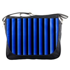 Blue Lines Background Messenger Bags