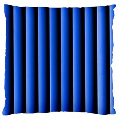 Blue Lines Background Large Cushion Case (two Sides)