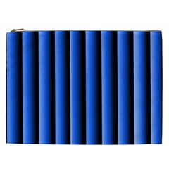 Blue Lines Background Cosmetic Bag (xxl)