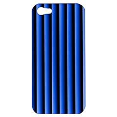 Blue Lines Background Apple Iphone 5 Hardshell Case