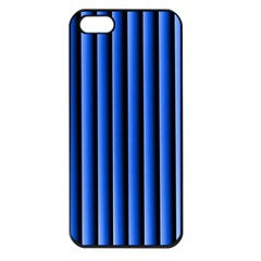 Blue Lines Background Apple Iphone 5 Seamless Case (black)