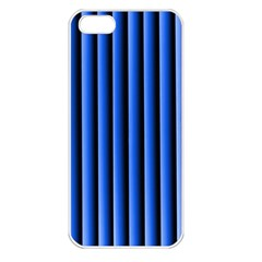 Blue Lines Background Apple Iphone 5 Seamless Case (white)