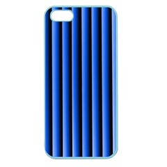 Blue Lines Background Apple Seamless Iphone 5 Case (color)