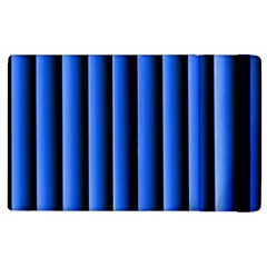 Blue Lines Background Apple Ipad 2 Flip Case