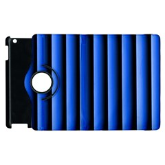 Blue Lines Background Apple Ipad 2 Flip 360 Case