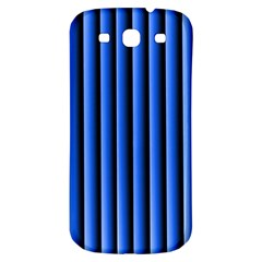 Blue Lines Background Samsung Galaxy S3 S Iii Classic Hardshell Back Case