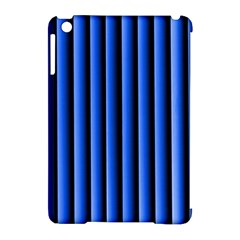 Blue Lines Background Apple Ipad Mini Hardshell Case (compatible With Smart Cover)