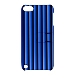Blue Lines Background Apple Ipod Touch 5 Hardshell Case With Stand