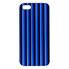 Blue Lines Background Apple Iphone 5 Premium Hardshell Case