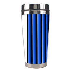 Blue Lines Background Stainless Steel Travel Tumblers