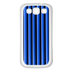 Blue Lines Background Samsung Galaxy S3 Back Case (white)