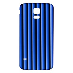 Blue Lines Background Samsung Galaxy S5 Back Case (white)