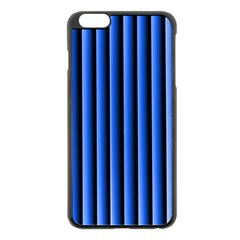 Blue Lines Background Apple Iphone 6 Plus/6s Plus Black Enamel Case