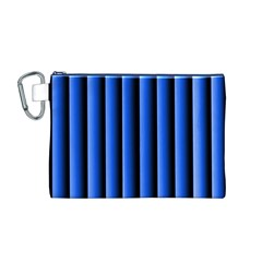 Blue Lines Background Canvas Cosmetic Bag (m)