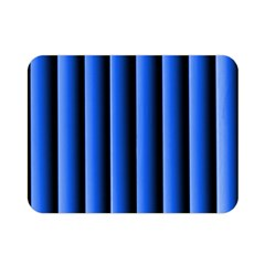 Blue Lines Background Double Sided Flano Blanket (mini)
