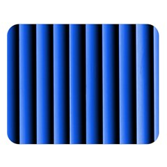 Blue Lines Background Double Sided Flano Blanket (large)