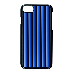 Blue Lines Background Apple Iphone 7 Seamless Case (black)