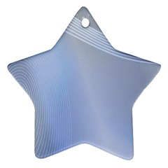 Blue Star Background Ornament (star)