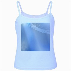 Blue Star Background Baby Blue Spaghetti Tank