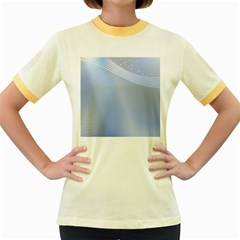 Blue Star Background Women s Fitted Ringer T-Shirts