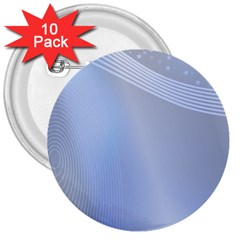 Blue Star Background 3  Buttons (10 Pack)