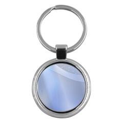 Blue Star Background Key Chains (round)