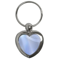 Blue Star Background Key Chains (Heart)