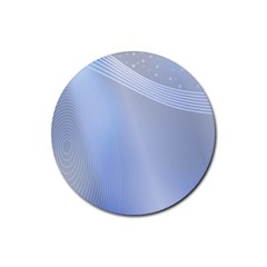Blue Star Background Rubber Round Coaster (4 pack)