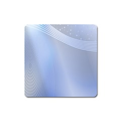 Blue Star Background Square Magnet