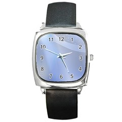 Blue Star Background Square Metal Watch