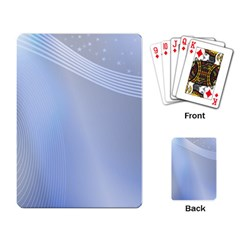 Blue Star Background Playing Card